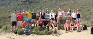Een weekend in de Cederbergen met onze studenten, deze foto is gemaakt na de lange hike naar de Wolfberg Arch