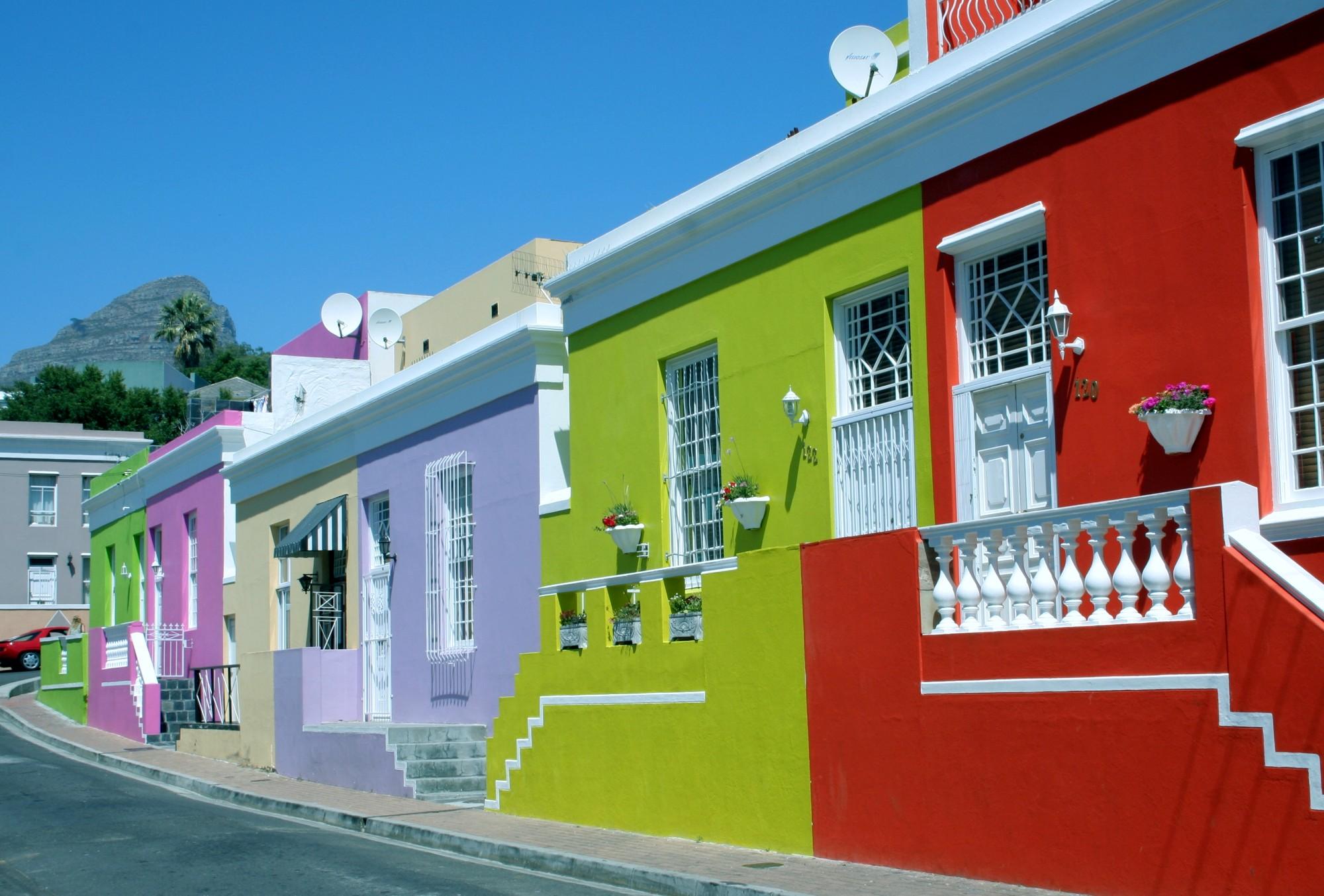 De Bokaap in Kaapstad, Zuid-Afrika
