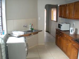 De gezamenlijke keuken van dit studentenhuis in de Bo-Kaap
