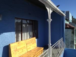 Vanaf de patio heb je een prachtig uitzicht over Kaapstad en op de Tafelberg