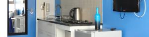 Dit is de keuken van deze studio-kamer in het centrum van Kaapstad