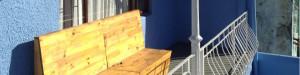 Vanaf de patio van dit studentenhuis heb je een prachtig uitzicht over Kaapsatad